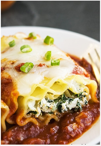 Spinach Lasagna Rolls Recipe (Spinach Lasagna Roll Ups)