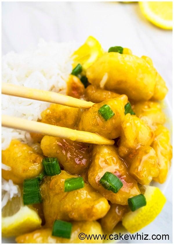 Chinese Lemon Chicken Recipe (Asian Lemon Chicken) 8