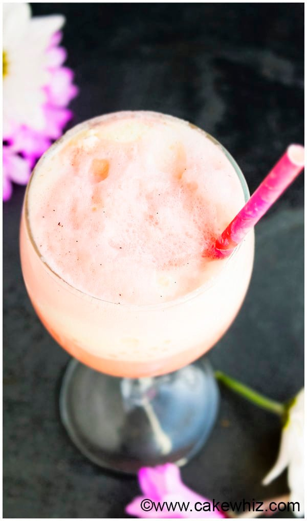 Rose Ice Cream Float Recipe 4