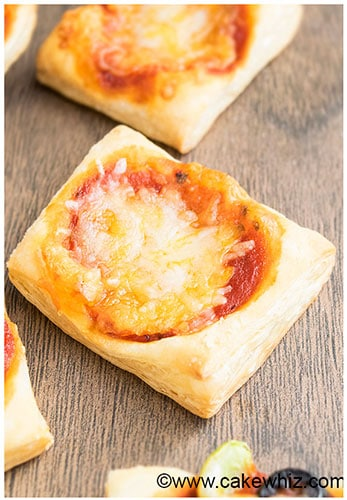 Easy Puff Pastry Pizza Recipe (Appetizer)