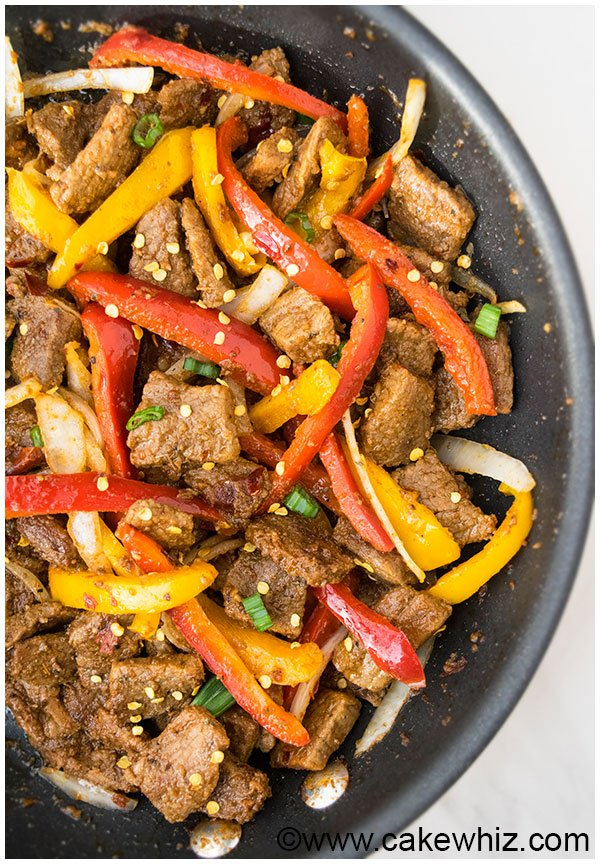 One Pan Spicy Beef Stir Fry Recipe 11