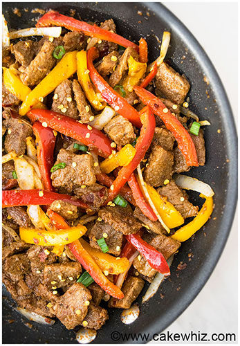 One Pan Spicy Beef Stir Fry Recipe