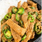 Chinese Jalapeno Beef Recipe (Easy Weeknight Meal, One Pan Recipe)