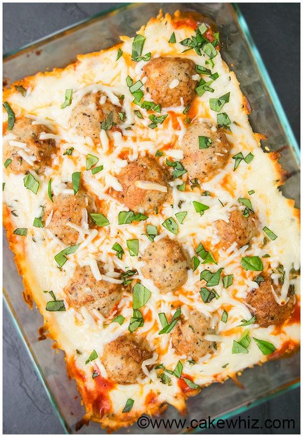 Meatball Parmesan Bake 5