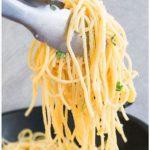 One Pot Lemon Garlic Pasta Recipe (Easy 30 Minute Dinner)