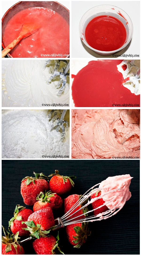 Fresh Strawberry Buttercream Frosting (Step by Step Instructions)