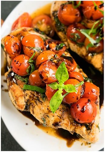 One Pot Bruschetta Chicken Recipe (30 Minute Dinner Idea)