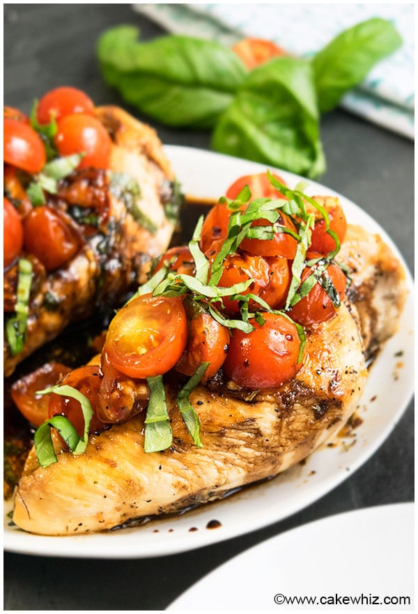 One Pot Bruschetta Chicken Recipe (30 Minute Dinner)