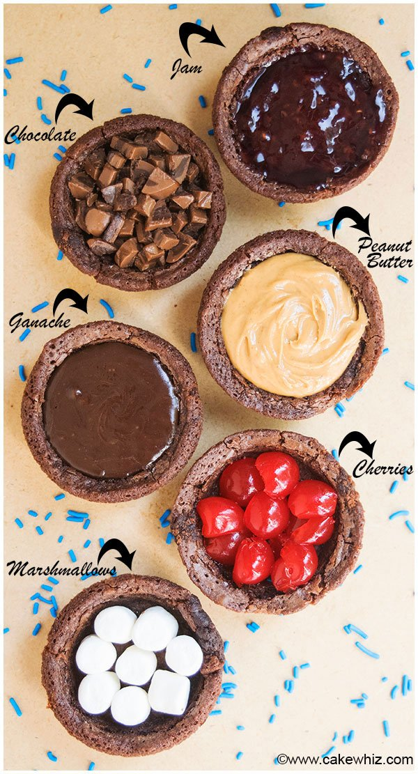 Brownie Cupcakes With Different Fillings