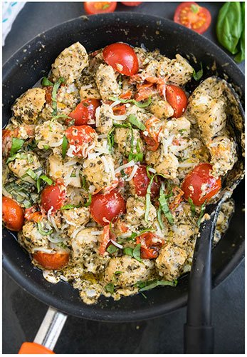 Easy Creamy Pesto Chicken Recipe- 30 Minute Dinner
