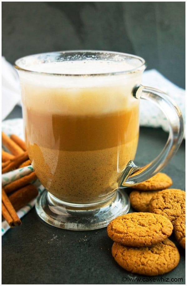 Homemade Gingerbread Latte Recipe Cakewhiz