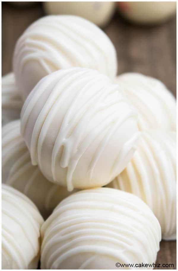 white chocolate candy truffles