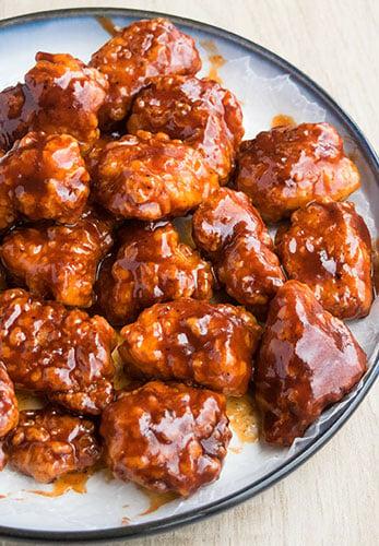Baked Honey Bbq Chicken Bites Cakewhiz