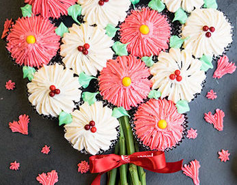 How To Make A Flower Cupcake Bouquet
