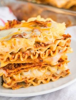 Easy Beef Lasagna Recipe (Meat Lasagna)