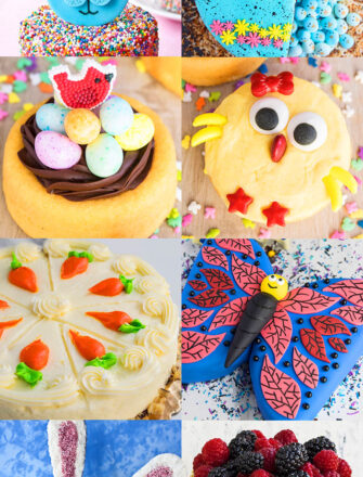 Collage Image With Many Easter Cake Ideas and Baking Ideas