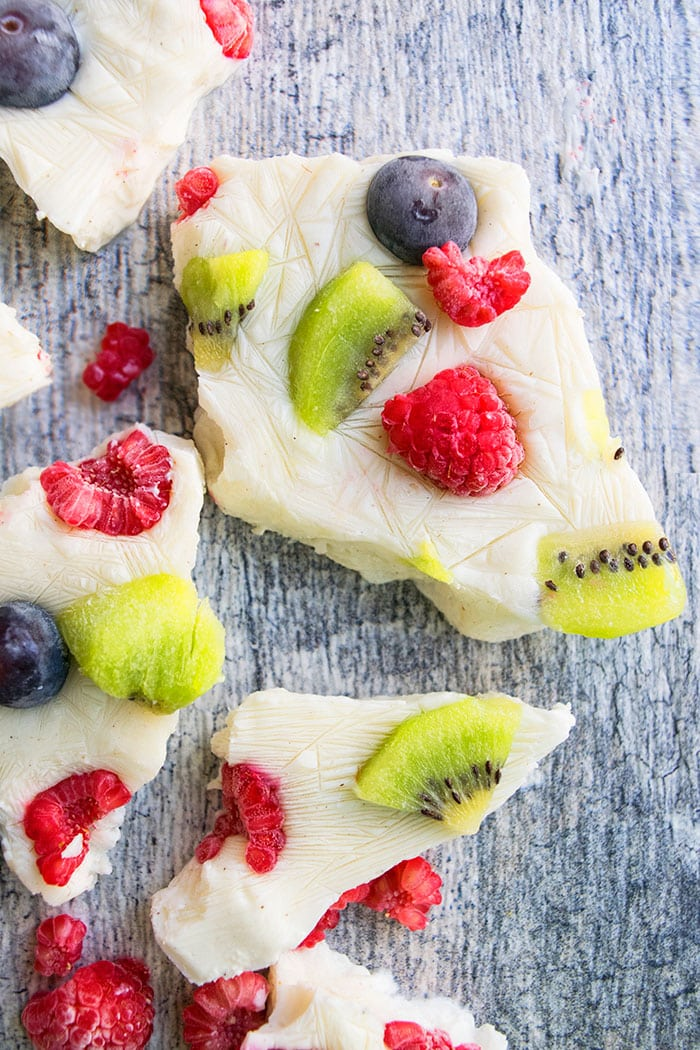 Greek Yogurt Bark With Fruits