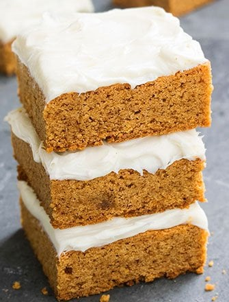 Easy Pumpkin Bars Recipe With Cream Cheese Frosting