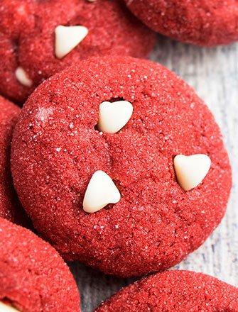 Easy Red Velvet Cookies Recipe With Cake Mix