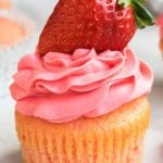 Easy Strawberry Cupcakes with Strawberry Frosting