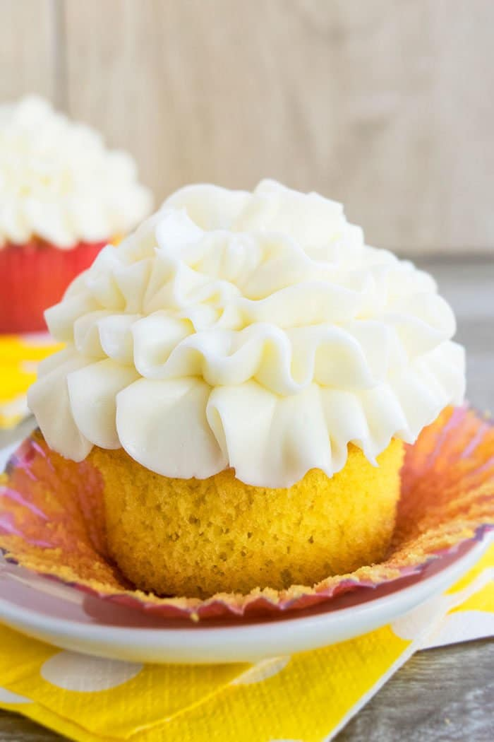 Easy Lemon Cupcakes with Cream Cheese Frosting