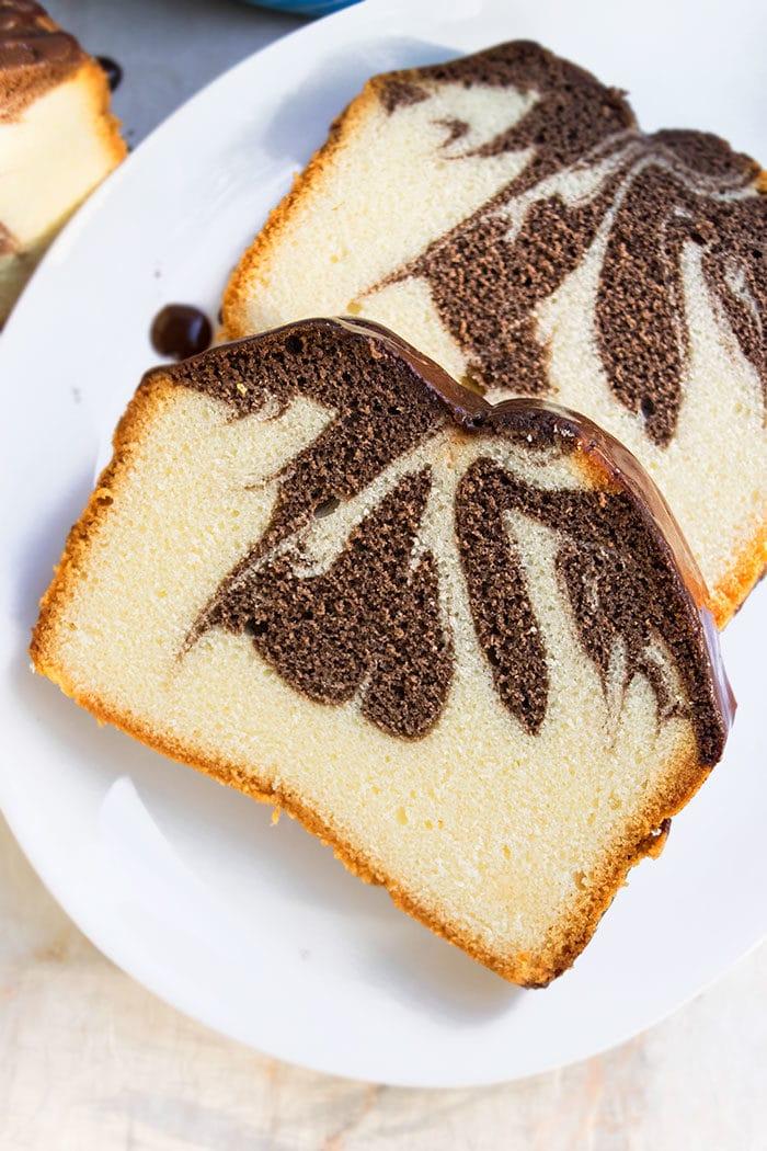 Moist Marble Pound Cake