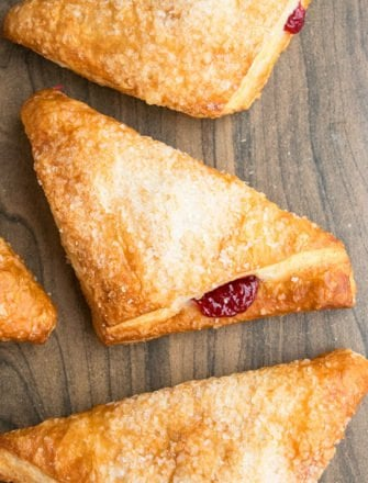 Easy Cherry Turnovers With Puff Pastry