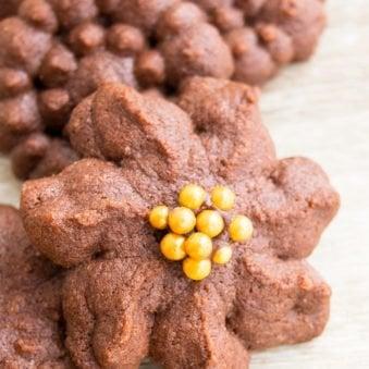 Easy Chocolate Spritz Cookies Recipe