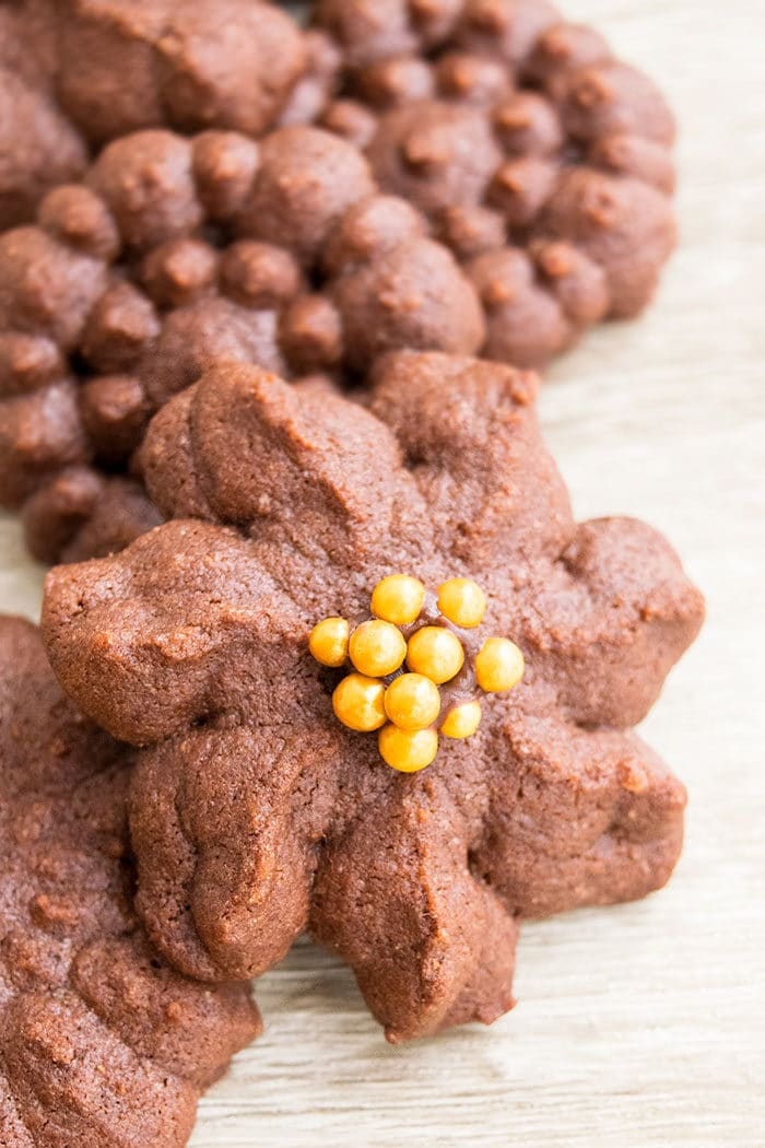 Easy Chocolate Spritz Cookies Recipe
