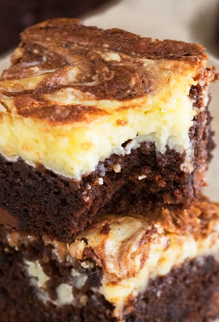 Chocolate Cream Cheese Brownies (From Scratch)