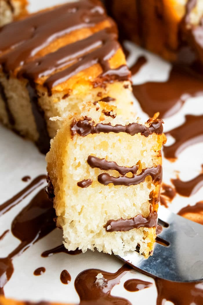 Honey Cake with Honey Chocolate Glaze