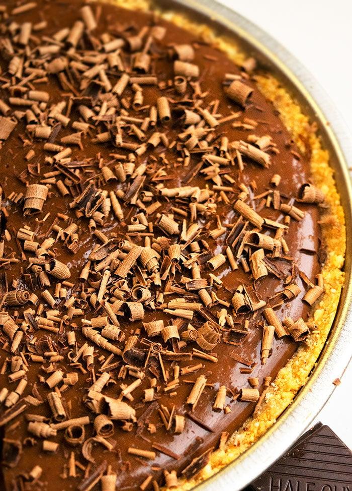 Chocolate Pudding Peanut Butter Pie