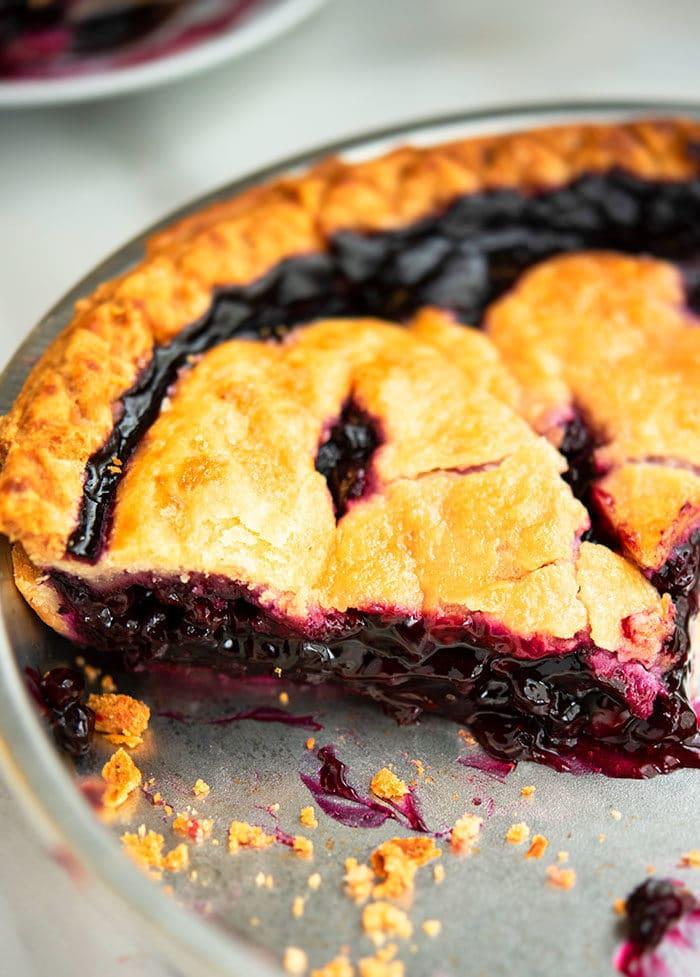 Best Blueberry Pie With Fresh or Frozen Blueberries
