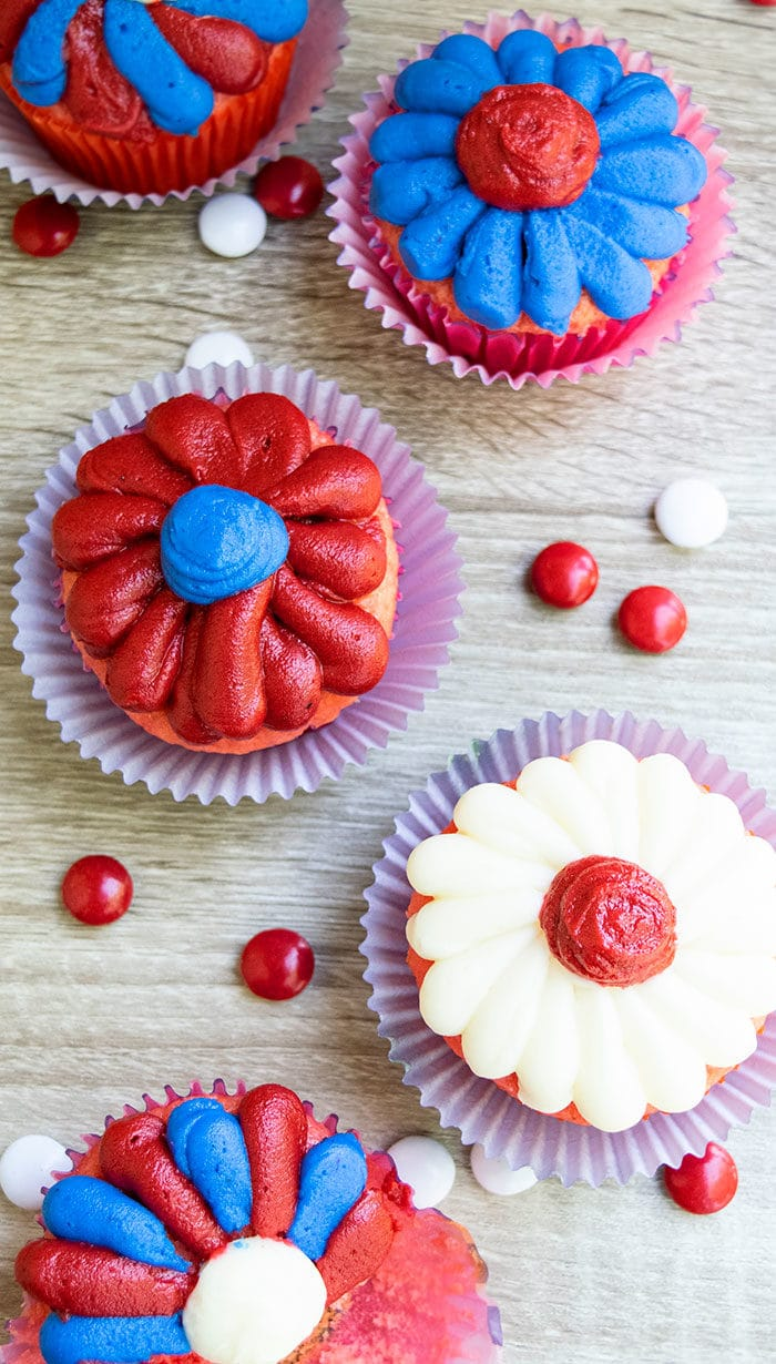 Red White and Blue 4th of July Cupcake Ideas