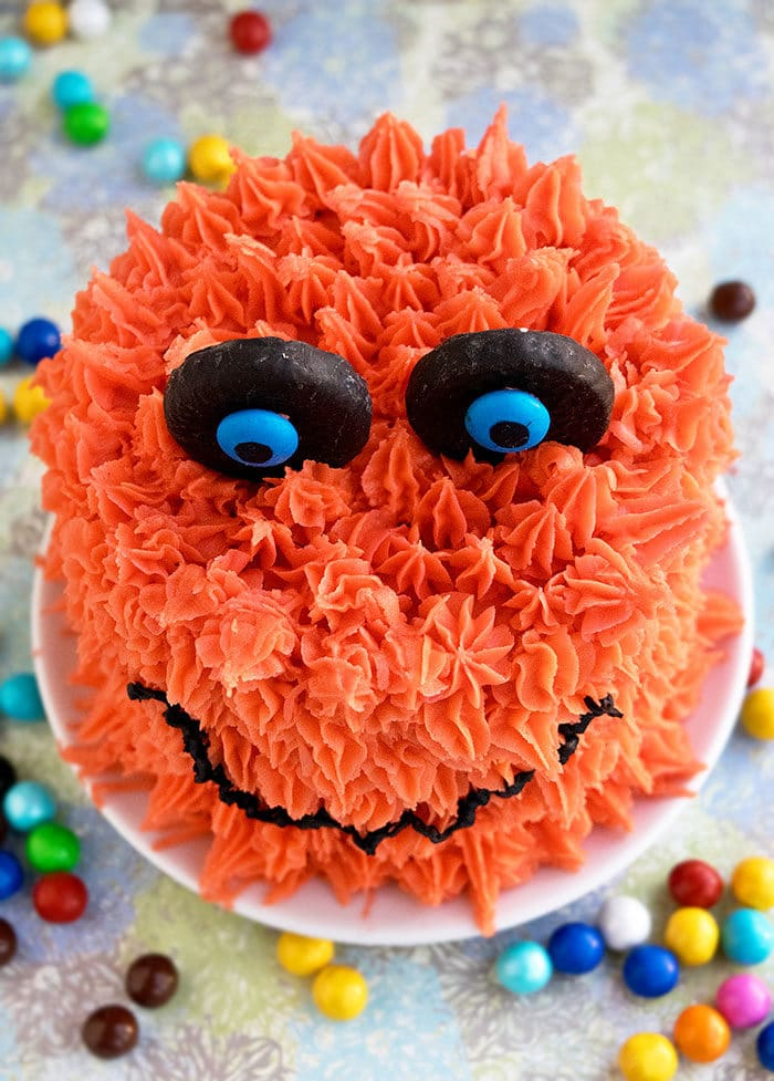 Furry Monster Cake for Halloween Parties