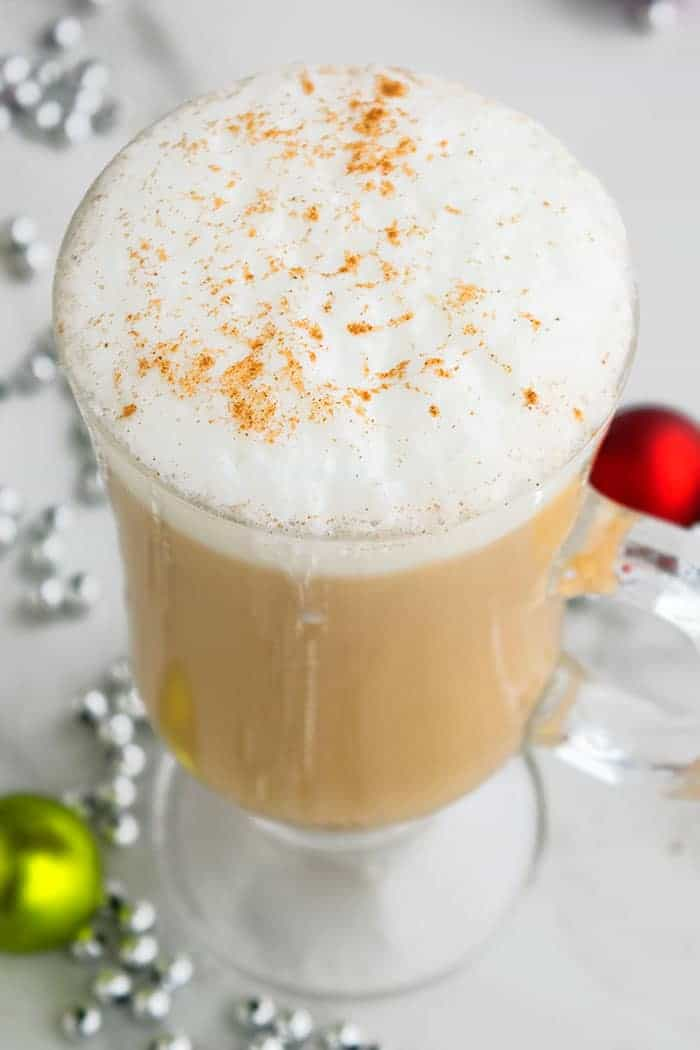 Best Eggnog Latte With Milk Foam