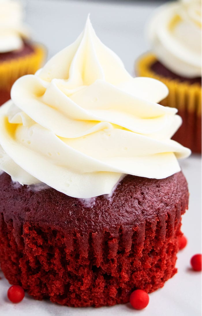 Homemade Red Velvet Cupcakes From Scratch