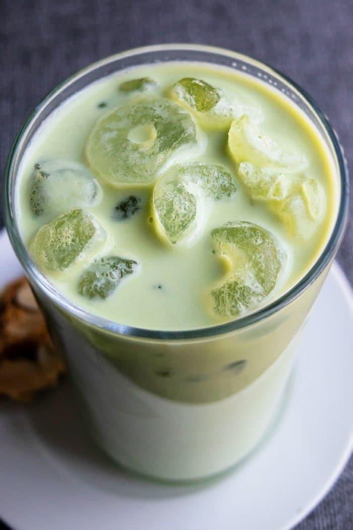 Iced Matcha Green Tea Latte