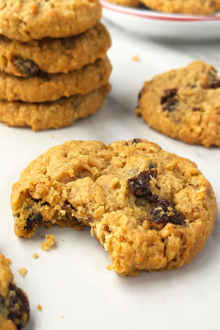 Classic Oatmeal Raisin Cookies with a Bite