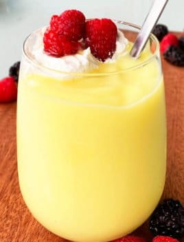 Classic Homemade Vanilla Pudding in Clear Glass Cup