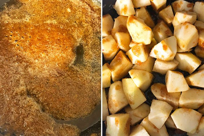 How to Make Stovetop Cinnamon Apples- Step By Step Instructions Collage