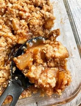Best Homemade Apple Crisp in Glass Dish