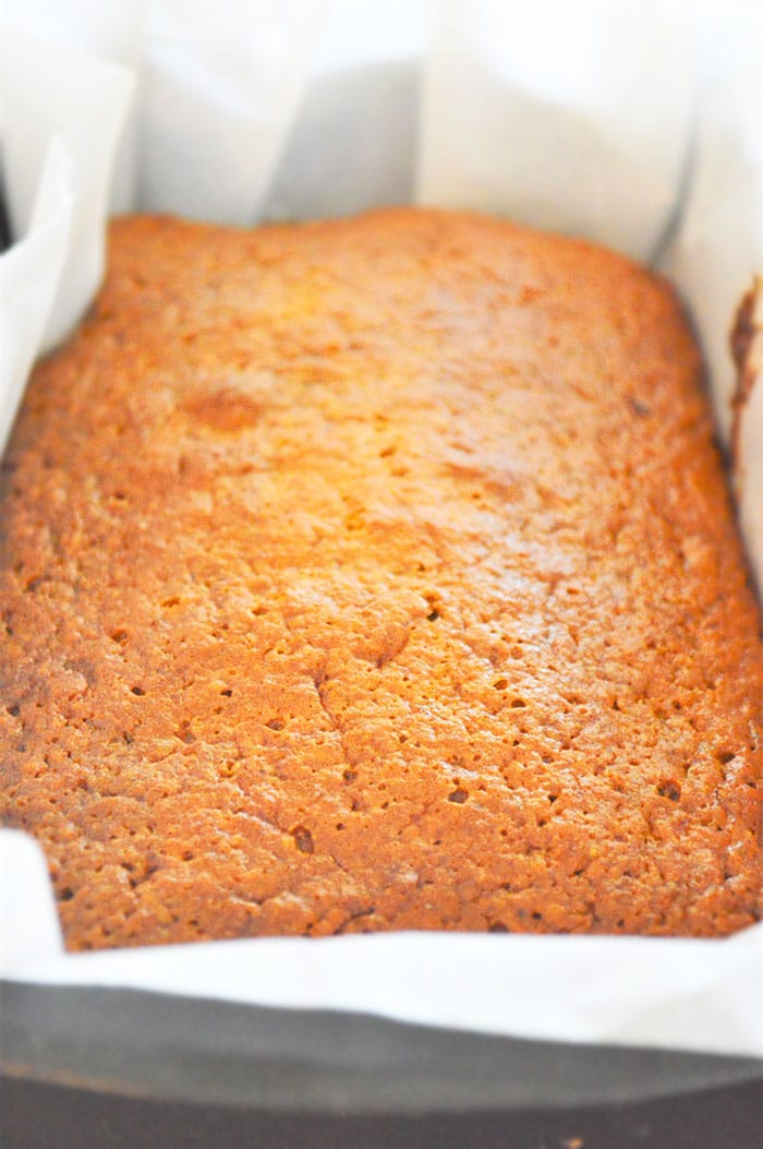 Homemade Sweet Potato Bread in Gray Loaf Pan