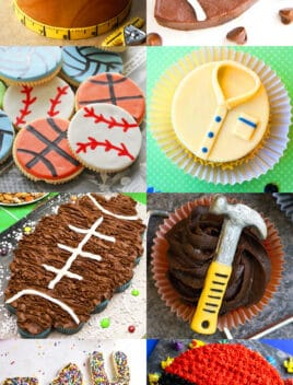 Collage Image With Multiple Pictures of Easy Father's Day Ideas, Desserts, Recipes